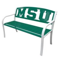 Display your school spirit with this bright cast aluminum metal bench. Its powder coated finish makes it suitable for outdoors, while its steel tube construction makes it both sturdy and comfortable.