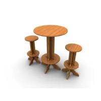 """This Wedgwood Bar Set, with High Top Table and 2 stools elicits a timeless yet contemporary feel. Wedgwood Furniture is fabricated from 1"""" Bamboo Plywood, a sensible alternative to teak. It is sustainably harvested, eco-friendly and durable. Wedgwood Furniture is sealed with an easily retouched eco-friendly finish perfect for casual outdoor use. This bar set packs flat and arrives ready to assemble. In just  minutes, with the use of only wedges, your bar set will be ready to use. Because of..."""