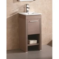 This collection proves that simplicity mustn't constitute staleness. To the contrary: It delivers a modern, no-frills look that highlights function. For added convenience, the vanity is designed with an open shelf on the bottom that can be used for open display storage and for quick access to frequently used items. This collection is available in three beautiful colors. All natural feel. All vanity color options come standard with a slim grade AAA vitreous china sink and brushed aluminum...