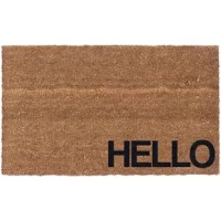Welcome guests to your home in simple, contemporary style with this understated doormat, showcasing a textual accent reading