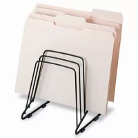 The open wire design of Step File II keeps files in clear view for quick retrieval. Great for frequently accessed files. Compact design leaves a small desktop footprint. Five graduated sections. Rubber feet protect desktop. Wire design will not collect dust.