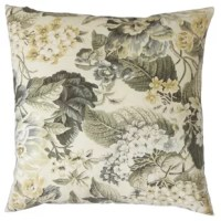 Delicate and lovely, this decor sham is a great addition to your living space. This toss sham is printed with a floral pattern in gray and yellow hues on a white background. Prop up this throw sham in your living room or bedroom. Made of 100% soft cotton fabric. Crafted in the USA.