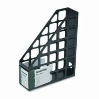 Use horizontally or vertically. Finger hole at back for easy removal from shelf. Sturdy plastic construction keeps files or magazines organized, out of the way but within easy reach.