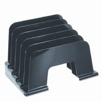Inclined sorter features a simple, smart design to help keep you organized. Graduated tiers keep your files and documents easily visible and within reach. Sturdy plastic construction.