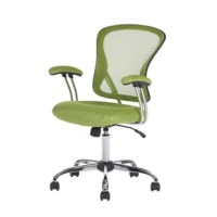 Perfect for surfing the internet, or working on a craft project, or working remotely from the office, this colorful task chair is the perfect pick for your home office. Showcasing a modern design with an upholstered seat, it features a mesh back, allowing air to pass through and adding to comfort by preventing body heat and moisture build-up. This design also features include spring-tilt mechanism, adjustable seat height, tilt tension control, and hooded double wheel casters.