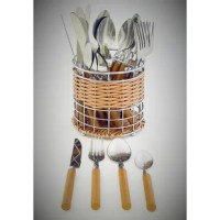 High Grade of Polished Steel and light wood design finish on the handles makes this 24-piece flatware a unique and attractive set for serving six. It will enhance your dining table and casual settings and invite compliments from your friends and family. The Flatware Set is part of the Rainbow Elite Collection offered by Nature Home Decor.