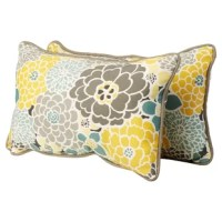 Prop yourself up on your patio sofa or master suite bed with this lovely Hedvige Indoor/Outdoor Lumbar Pillow. The colorful floral motif brings a cheerful touch and texture to any seat.