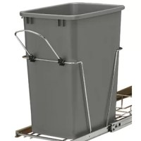Rev-A-Shelf's waste container units are a perfect way to clear your kitchen of unsightly trash by hiding it inside your cabinet. Made with high-quality slides, durable wire construction and you will be ready to trash your freestanding waste container.