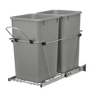 Rev-A-Shelf's waster units are a perfect way to clear your kitchen of unsightly trash by hiding this 6.75 Gallon Trash Cans inside your cabinet. Made with high-quality slides and durable wire construction.