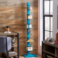 Whether you're curating the classics or showing off a vibrant rainbow of books, this bookshelf's artful construction makes for the loveliest library in your modern space. Crafted from metal with a spine and unobtrusive shelves, this vertical design gives books the look of being stacked on top of each other for a modern look and adds appealing fashion to your home.