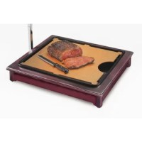 Let the classic look of finished wood invite your buffet guests to sample beef, sliced ham, or savory turkey with this cut-mate carving station kit. This carving station kit's attention-grabbing, sturdy wood frame complements any buffet serving area. The carving station kitincludes a cutting board, which has a cut out slot to collect scraps, and a place for drippings. The scraps and drippings are kept out of site in the carving station's black plastic drip tray. A clamp is included that can...