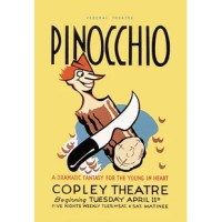 WPA theater poster of a play about Pinocchio. Pinocchio is a fictional character and the protagonist of the children's novel The Adventures of Pinocchio (1883), by the Italian writer Carlo Collodi. Carved by a woodcarver named Geppetto in a small Italian village, he was created as a wooden puppet, but dreamed of becoming a real boy. In the depression of the 1930's a federal stimulus stimulus program was created, the WPA. The Works Projects Administration (WPA) funded theaters, art and inspired...