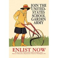 The United States School Garden Army (USSGA) was created in 1917 as a way to encourage gardening among school children. By encouraging children to garden, the U.S. government hoped that a food crisis might be averted, and that America's food system might become more locally-oriented and sustainable. The USSGA was funded by the War Department; food was, and still is, an issue of national security. The goal was to let kids feel that by gardening, they were fighting in France alongside the men in...