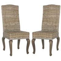 Classically French in shape but with a twist of new tropical island flair, the Alsace Dining Chair will adapt to any aesthetic from casual urban and coastal interiors. Showcasing a woven rattan Kubu and hardwood frame, curved legs, and natural finish, this chair is the perfect way to liven up your ensemble. Tuck a few of these lovely designs under a whitewashed table in your dining room, then add a white hydrangea bouquet, white linen runner, and woven placemats for a country-chic aesthetic...