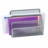 This YBM Home tray sorter has 3 sections to help keep your desktop organized and clutter-free. YBM Home Mesh collection desk accessories have a simple and elegant industrial look and sturdy metal construction. Plus, see-through mesh saves you valuable time when retrieving documents and office essentials. 3 Slots allow you to store an assortment of items you'll need to easily access in the near future.