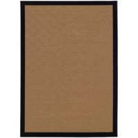 Set an understated foundation in any indoor or outdoor arrangement with this versatile area rug. Machine-woven from polypropylene, this durable design resists water, staining, and fading. Its color-block border offers a dash of distinction, while its solid golden beige hue blends with a variety of color palettes and aesthetics. Thanks to this piece's low 0.19