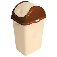 This high quality 5 liters Slim Trash Can is especially designed to fit narrow areas and is a great space saver. It offers an easy to use swinging cover that opens smoothly from both sides. Two convenient handles for easy carrying and a classical design and shape.