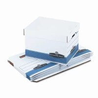 Medium duty for use with or without shelving. Quick set-up assembly. Deep locking lift-off lid stays in place for secure file storage. Rolled edges add strength and prevent paper cuts.