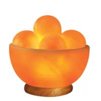 This Sun Globe 8 Ibs Salt Lamp is both a stunning decorative piece and a functional massage tool. The massage balls are perfect for rolling across the skin and the salt therapy function helps clear out stuffy sinus cavities.