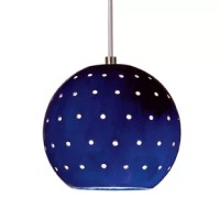 Our Lunar mini pendant evokes the planets and stars. Its small spherical shape is supplemented by tiny circular holes, emitting an additional glow of light over the hand-glazed surface of the fixture. On its own, Lunar is perfect for a little accent light. Or group for more light in a row or multi-length collection.