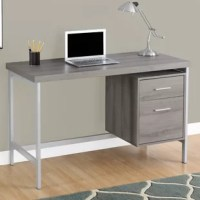 Sleek and contemporary, this finished desk is the perfect combination of function, durability, and design in a modern form. With clean lines, a large, thick paneled surface and stylish silver metal legs, this piece will add pizzazz to any home office. Featuring a large storage drawer and a file drawer accented by silver colored drawer pulls to help keep your office supplies and documents organized and desktop clutter-free. This desk provides plenty of room to meet your working needs without...