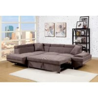 Anchor your living room or parlor ensemble with this clean-lined sectional sofa, featuring chrome-finished legs and neutral-toned upholstery. Pull out the nifty trundle to create a comfy sleeper for overnight guests.