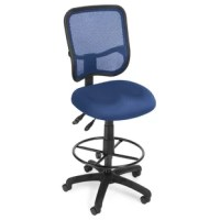 Get contemporary style and all-day comfort with the Symple Stuff Comfort Series Bettencourt Mesh Task Chair with Drafting Kit, Mid Back. The back features built-in lumbar support, and the cooling, breathable mesh gives long-term comfort. The included drafting kit features an extra-tall seat lift and an adjustable foot ring. The chair arms feature 7-position height and width adjustments to provide customized upper body support. It's easy to find the perfect support with the adjustable gas lift...