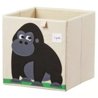 The Gorilla Storage Cube is the perfect organizational tool for any room. With sides reinforced by cardboard, the storage cube stands at attention at all times. Whether standing alone or place in a cubby hole, the 3 Sprouts storage cube makes organizing easy.