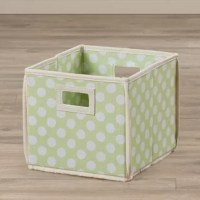 Looking for storage with a look that pops? These basic bins feature a lively polka dot print paired with a variety of color choices. Handle cutouts on each end make it easy to grab the bin you need and each folds down flat when you're short on space.