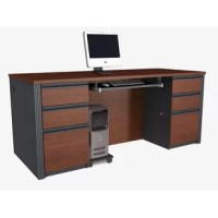 Ttimeless modular collection that will adapt to your needs, over time. This timeless modular collection will adapt to your needs, over time. With its wide range of products, it is ideal for every type of offices. Features an efficient wire management system, classic corrugated moldings and large work surfaces. The collection features commercial-grade work surfaces with melamine finish that resist scratches, stains and wears. In addition, the edge detail features shock resistant PVC material for...