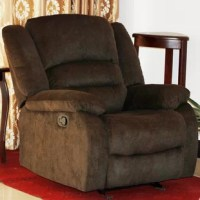 Relax and get comfortable in this traditional recliner. The recliner is available in various colors and will match well with many color schemes. This recliner supports your entire body and allows you to rest in comfort with or without elevating the leg rest. The fabric upholstery feels soft against your skin, while the thick foam supports your body for ultimate relaxation.
