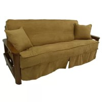 Protect your furniture and provide a touch of style to your futon with this Microsuede Picasso Box Cushion Futon Slipcover by Blazing Needles. Available in a range of solid-patterned color options, this piece enhances your decor and makes a fun statement. Double corded edging adds contrast to the design and makes installation simple while the hidden zipper means that the slipcover is conveniently removable, but never looks out of place. High-quality Blazing Needles microsuede fabric...