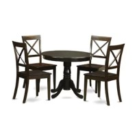 Classic 5 Piece Dining Set gives a rich amazing finish to enhance all the living area or kitchen area for all occasions. A solid curled ornate pedestal base brings toughness and superior effect to the round dining table. This product could bring the room together as it lures with is glossy design. Just the perfect dimension for big and small dining area. Crafted out of solid wood, this valuable dining room table set is long-lasting and dependable that will last a long time.