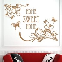 Quotes and phrases can carry the power of motivation, wisdom and inspiration. Affirm you mantra and be inspired on a daily basis with the Home Sweet Home wall decal quote.