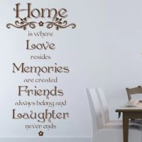 Quotes and phrases can carry the power of motivation, wisdom and inspiration. Affirm you mantra and be inspired on a daily basis with the Home Quote wall decal quote.