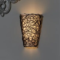 More than just a luminary, this flush mount brings a warm glow and artful appeal to any space in your home. Drawing inspiration from contemporary designs, it showcases a cone-shaped shade wrapped in fabric and overlaid with swirling twine for an abstract look. Six LED bulbs (included) sit within, providing a subtle boost of brightness that's perfect as a nightlight in the hall. For extra ambience, take advantage of this fixture's flameless candle flicker mode. Plus, you can forget about the...