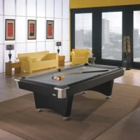 Brunswick Boca Billiards 8.4' Slate Pool Table connecting generations with superior craftsmanship and innovation since 1845. Naturally dramatic, the Boca Billiards 8' Pool Table is in its element in contemporary homes, from casual chic to sleek and sophisticated. Durable pocket corners, round rail sights, and jet-black laminate provide the perfect detail. Built for a lifetime of enjoyment.