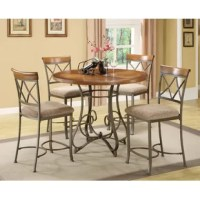 Anchor the dining room in effortless style with this 5 piece counter height dining set, perfect for weekday meals and family gatherings alike.