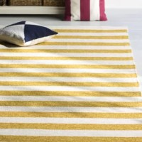The Admirals Gold & Cream Indoor/Outdoor Area Rug fits effortlessly in both indoor and outdoor spaces, while its soft beachy hues ensure versatility to suit your ever-changing style.