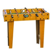 A great kid friendly wood foosball table on legs. Children will spend hours with this foosball table gaining hand eye skills, creative thinking and problem solving skills.