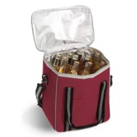This fully insulated cooler by Picnic Plus is designed to accommodate up to 6 wine, beverage, or spirits bottles. With a PEVA leak proof lining and thermal foil lid, the vineyard 6 bottle cooler also has a removable bottle divider that can hold 30 cans. With a reinforced hard base and dividers, this cooler is great for wine reps, winery visits and travel or any outdoor occasion. Carry handle and adjustable shoulder strap makes travelling easier.