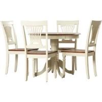 Artin 5 - Piece Rubber Solid Wood Breakfast Nook Dining Set