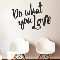 Add this modern hand-painted-style phrase to your office, creative space, study room, or any corner in which you may need motivation and a reminder that as difficult as it gets, it's what you love to do!