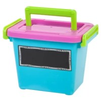 Stay organized with these Modular Latching Boxes with handles. These containers are part of a series of latch boxes that are designed to stack together to create several configurations. Use these boxes to customize and maximize your storage needs. These small box is perfect for small toys, craft items, makeup and office supplies.