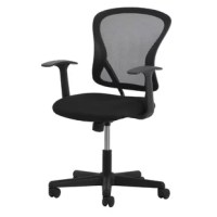 From desks to conference rooms, every space in your workplace can benefit from task chairs like this one that help you and your team get your jobs done. It features a curving back with a black mesh panel and ergonomic lumbar support, so it's sure to have your back no matter the project. The swivel seat is upholstered with microfiber and features a foam filling to give you a little extra cushioning during the workday. And thanks to the adjustable seat height, it's easy to set it up exactly how...
