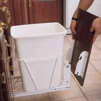 Rev-A-Shelf's patented door mount kit truly adds a finishing touch to all of white pullout waste container. The kit allows you to mount your existing cabinet door to any of RV series waste containers. Makes accessing these products truly a 1 step process.