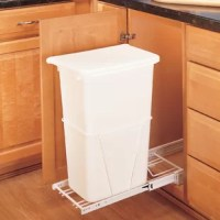 Rev-A-Shelf's RV units are a perfect way to clear your kitchen of unsightly trash by hiding it inside your cabinet. Made with high-quality slides, durable wire construction and simple installation you will be ready to trash your freestanding waste container.