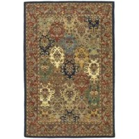 No matter which room you're decorating, an area rug helps pull it all together. This design, for example, features an intricate, Persian-inspired pattern in a variety of hues, so it's perfect for adding a classic touch to any space. It's crafted from wool with a 0.5'' pile height, so it encourages comfort underfoot while remaining easy to clean with regular vacuuming. We recommend pairing this piece with a rug pad.