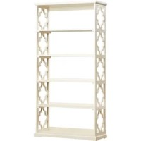 Available in a fashionable solid finish sure to suit your space, this eclectic etagere bookcase is crafted of solid rubberwood and pine. Striking a rectangular silhouette, this bookcase features Eastern-inspired trellis side panels and an open back. Shelves provide perfect platforms for displaying rows of your go-to novels, framed family photos, decorative vases, or even potted plants, while a tip over-resistant strap system keeps your collected curious upright and secure.