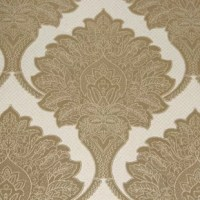 Royalty is a large scale luxury damask pattern with intricate detailing on a metallic backdrop. It has a highly elegant look with its rich layering and tonal range. Use it in a dining room as a feature wall design for a high impact look.